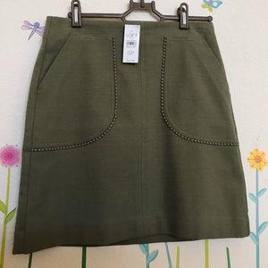 🎉HP 🎉NWT Loft Olive Green Skirt